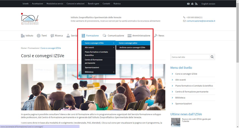 Guida al sito web | Istituto e strutture
