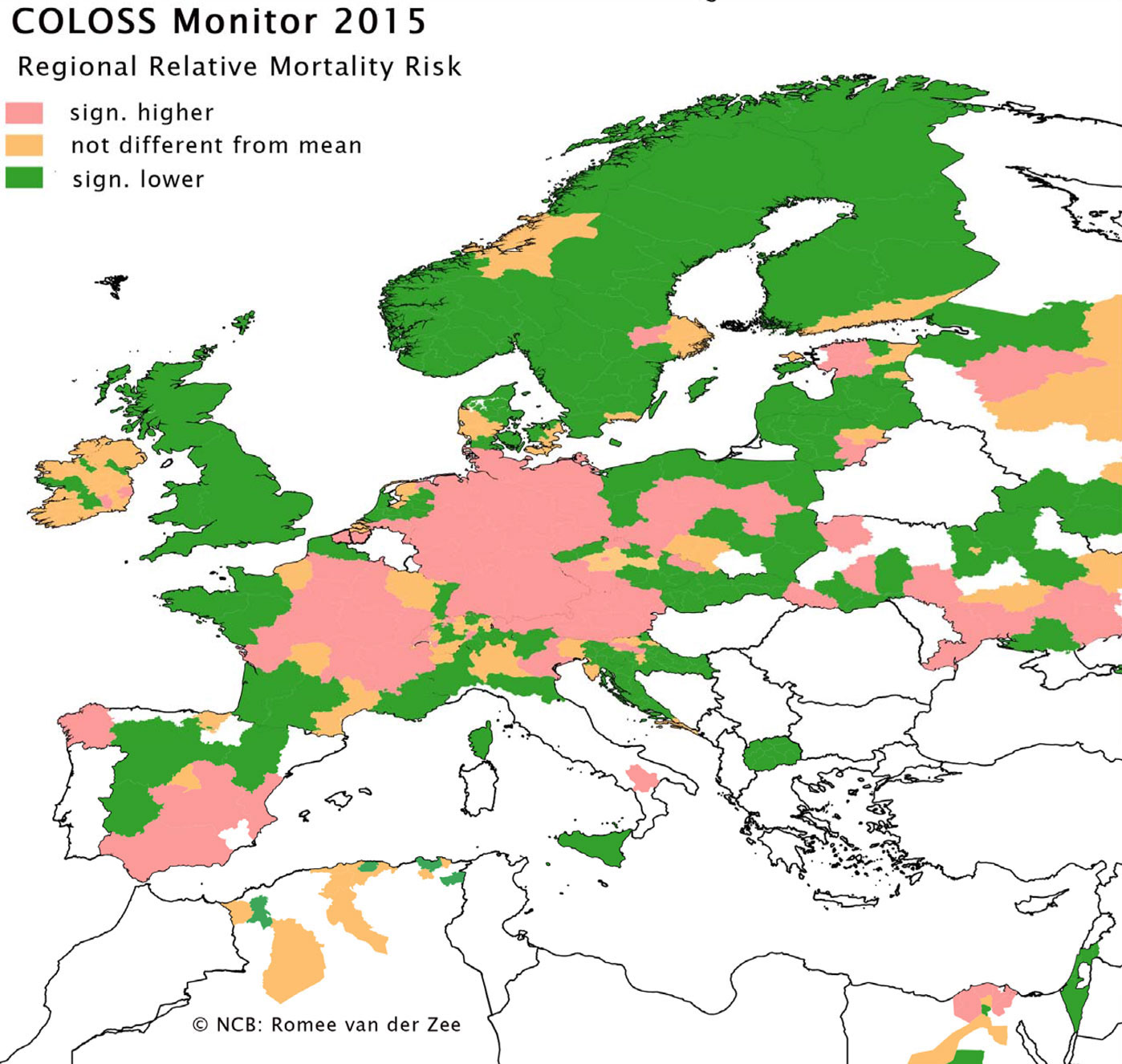COLOSS Monitor 2015 - Regional Relative Mortality Risk