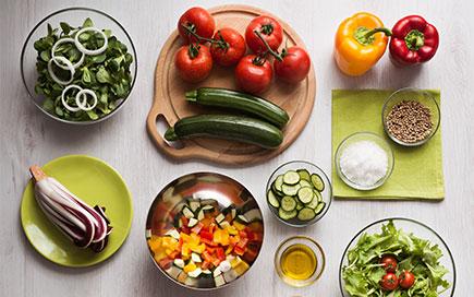 Alimenti vari di una dieta