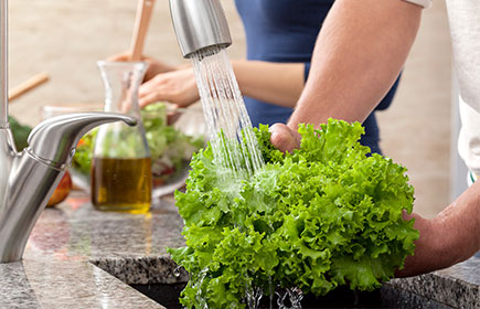 Lavare l'insalata