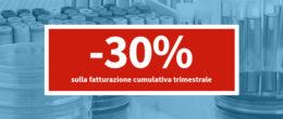 Sconto del 30% su tutte le prestazioni richieste con fatturazione cumulativa trimestrale