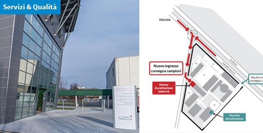 Nuovo accesso all'Accettazione della sede centrale IZSVe
