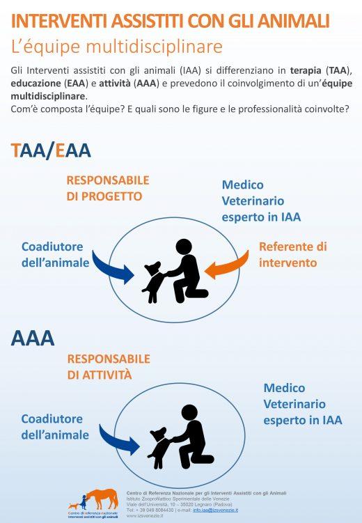 Interventi Assistiti con gli Animali - Équipe multidisciplinare - Infografica