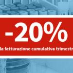 Sconto del 20% su tutte le prestazioni richieste con fatturazione cumulativa trimestrale