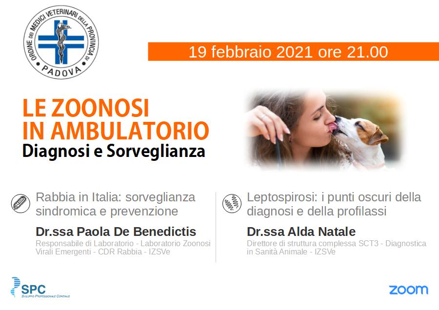 """web""""Le Zoonosi in ambulatorio, diagosi e sorveglianza"""""""