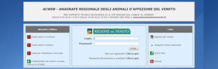 Anagrafe canina della Regione del Veneto: guida all'applicativo Acweb [Tutorial]